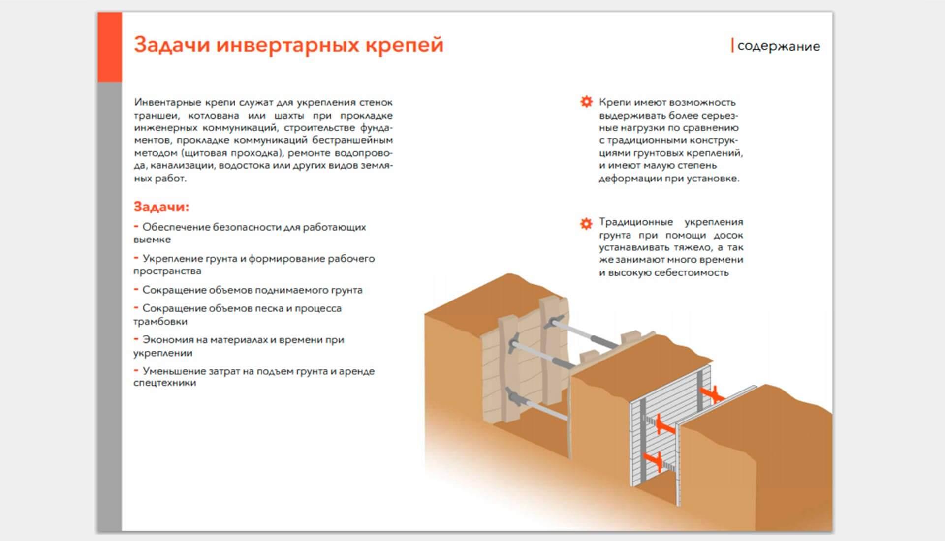 сайт по производству крепей скриншот