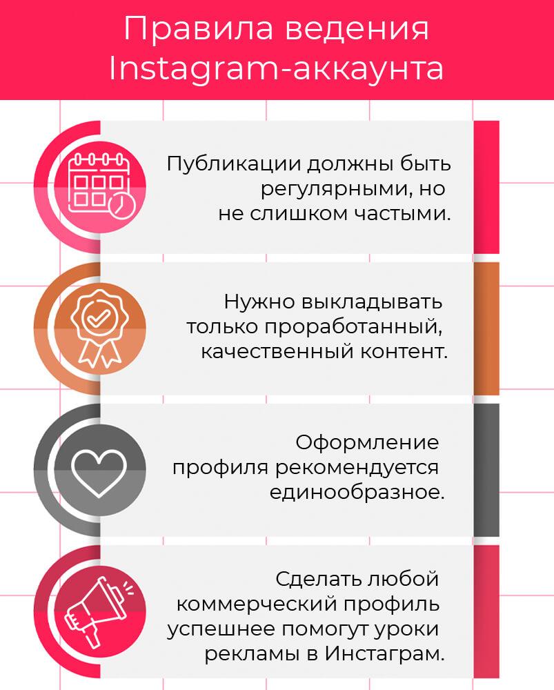 Правила ведения Instagram-аккаунта